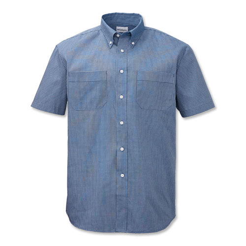 Button down collar work shirts artee shirt for Blue button up work shirt