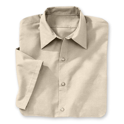 Men's Short-Sleeve Snap-Front Shirt
