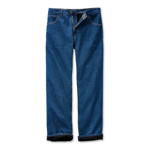 Lined Five-Pocket Jeans