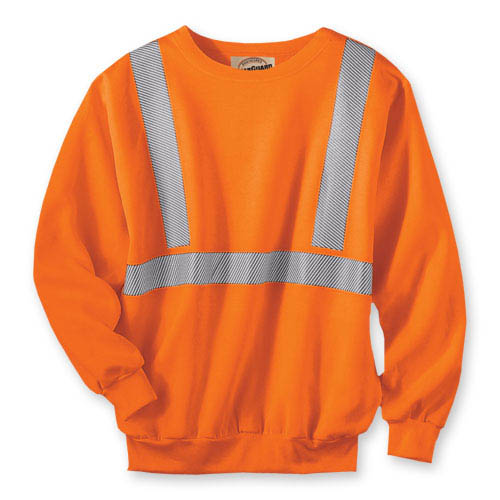 WearGuard® Class 2 High-Visibility Crewneck Sweatshirt