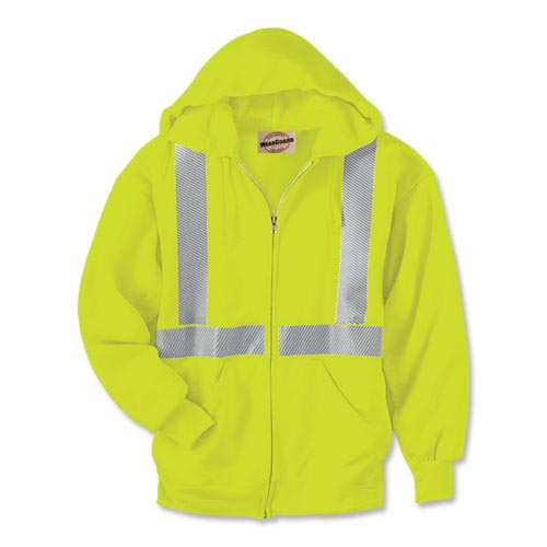 WearGuard® Class 2 High-Visibility Hooded Zip-Front Sweatshirt