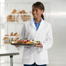 ARAMARK snap-front counter coat