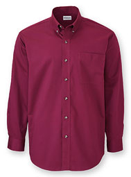WearGuard® Long-Sleeve Fine Line Blended Twill Shirt
