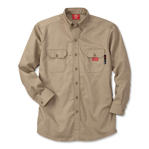 Dickies® Flame-Resistant Button-Down Work Shirt