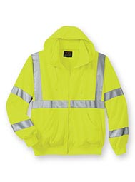 WearGuard ® Class 3 High-Visibility Hooded Zip-Front Sweatshirt