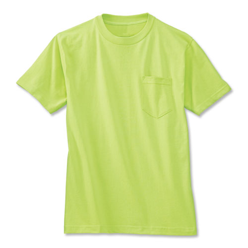 6922 high visibility short sleeve cotton t shirt with for Hi vis t shirts cotton