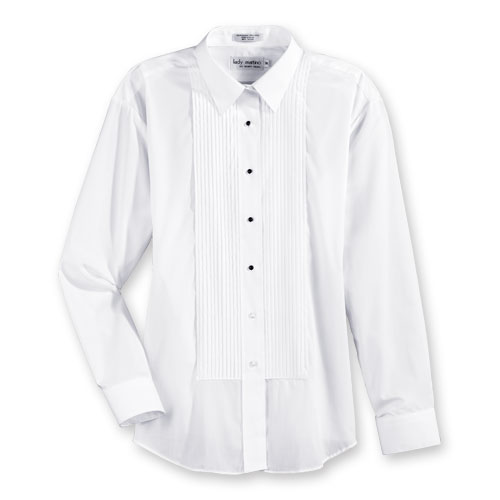 Z896 Women S Laydown Collar Tuxedo Shirt From Aramark