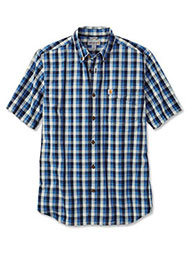 Carhartt® Men's Short-Sleeve Plaid Shirt