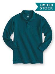 WearGuard® WearTuff™ Long-Sleeve Piqué Polo With Pocket