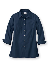 WearGuard® Women's 3/4-Sleeve Poplin Shirt