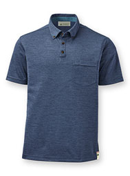 Men's ReTerra™ Eco Short-Sleeve Button-Down Collar Polo