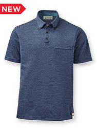 Men's Eco Short-Sleeve Button-Down Collar Polo