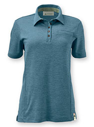 Women's ReTerra™ Eco Short-Sleeve Button-Down Collar Polo