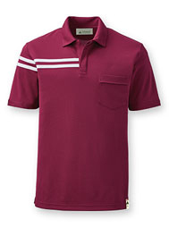 Eco REPREVE® Short-Sleeve Half-Stripe Polo