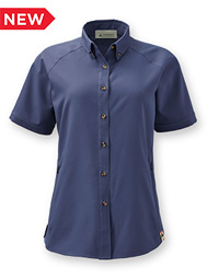 Women's Eco Short-Sleeve Button-Down Collar Shirt