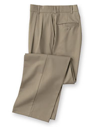 ARAMARK pleated dura-press twill pants