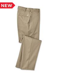 ARAMARK Flat-Front Dura-Press Twill Pants