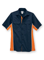 WearGuard® Enhanced-Visibility Short-Sleeve Color Block Work Shirt