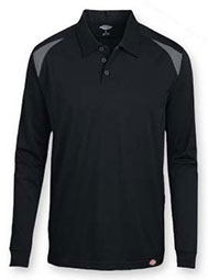 Dickies® Long-Sleeve Performance Color Block Polo