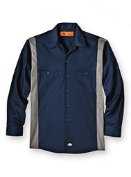 Dickies® Long-Sleeve Color Block Shirt