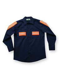 ARAMARK Long-Sleeve Enhanced-Visibility Shirt