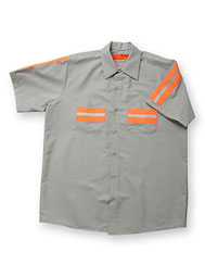 ARAMARK Short-Sleeve Enhanced-Visibility Shirt