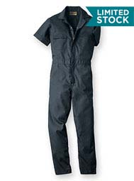 Short Sleeve Poplin Coveralls