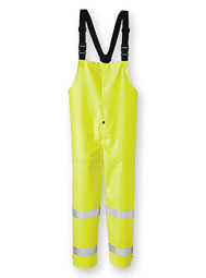Hi-Vis Foul Weather Flame-Resistant Bib-Style Trousers