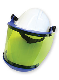 Face Shield With Hard Hat