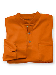 Aramark® Indura® Ultra Soft® Knit Long-Sleeve Henley