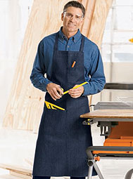 ARAMARK Three-Pocket Industrial Bib Apron