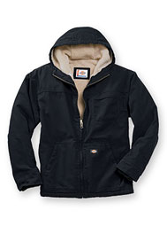 dickies® hooded sherpa-lined jacket