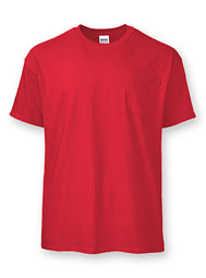 100% Ultra Cotton® or Cotton Blend Short-Sleeve T With Pocket