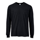 100% Ultra Cotton® or Cotton Blend Long-Sleeve T With Pocket
