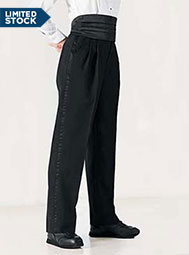 Women's Pleated Tuxedo Pants