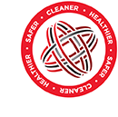 image of logo that reads  Healthier Safer Cleaner