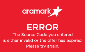 Error, Source Code is invalid or offer has expired