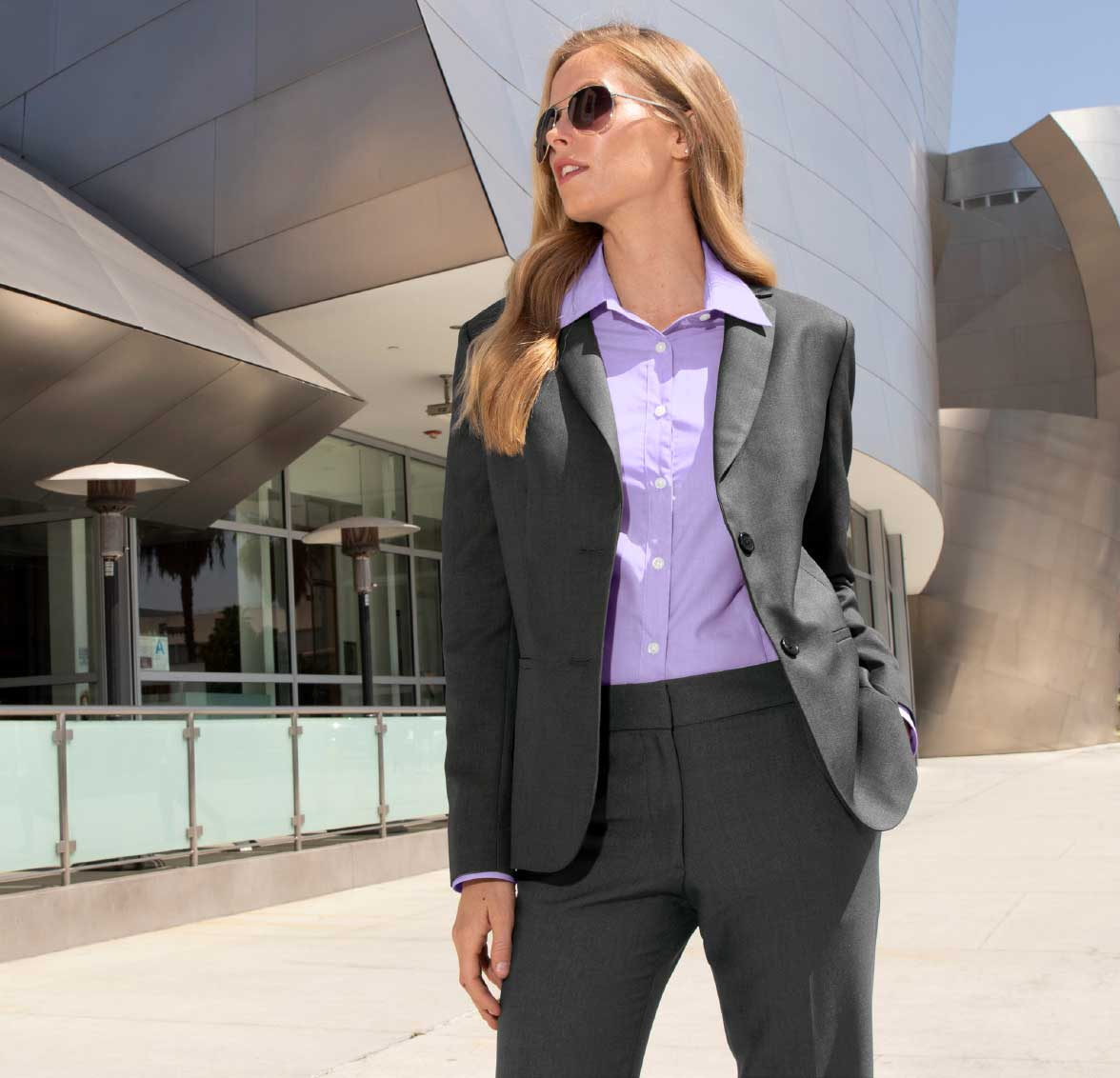 image of standing female business executive