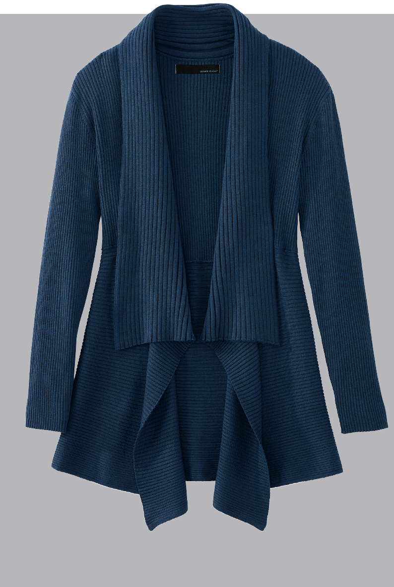 image of navy blue womans sweater